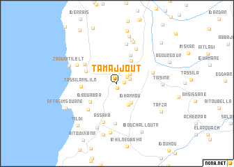 map of Tamajjout