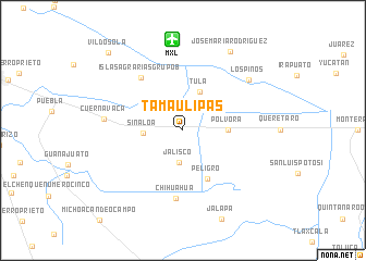 map of Tamaulipas