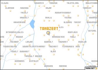 map of Tamazert