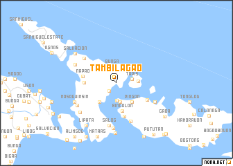 map of Tambilagao