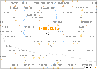 map of Tamderets