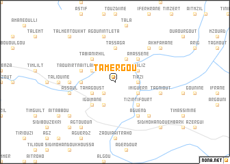 map of Tamergou