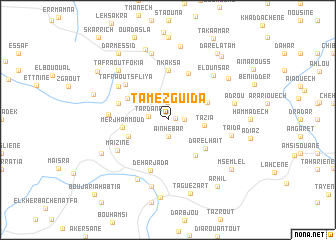 map of Tamezguida