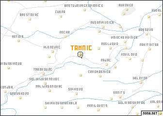 map of Tamnič