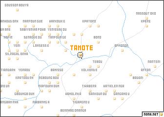 map of Tamoté