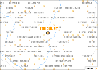 map of Tamoulet