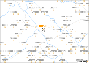 map of Tầm Song