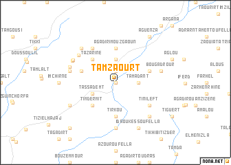 map of Tamzaourt