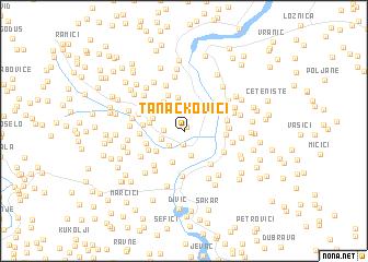 map of Tanackovići