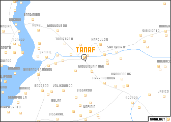 map of Tanaf