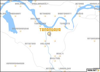 Tanandava (Madagascar) map - nona.net
