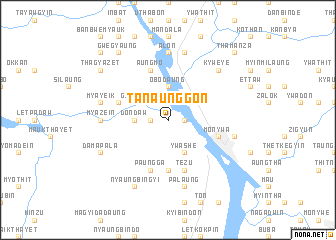 map of Ta-naunggon