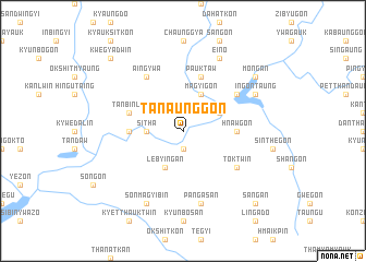 map of Tanaunggon