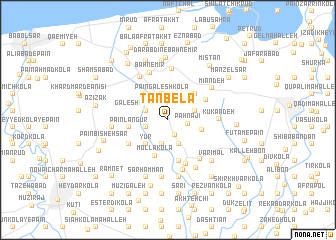 map of Tan Belā