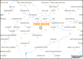 map of Tancoigné