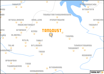 map of Tandoust