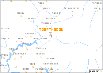 map of Tanetharaw