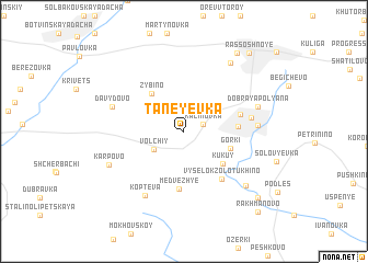 map of Taneyevka