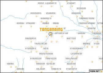 map of Tan-ga-naing