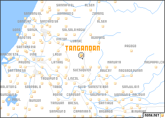 map of Tanganoan