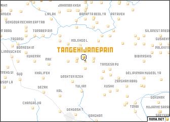 map of Tang-e Hījān-e Pā\