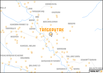 map of Tang-e Pūtak