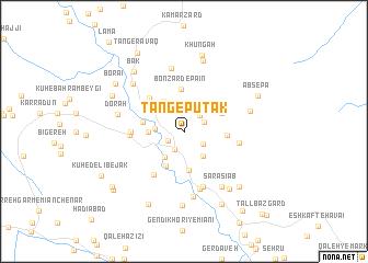 map of Tang-e Pūtak