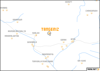 map of Tang-e Rīz
