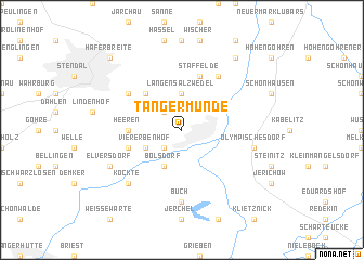 map of Tangermünde