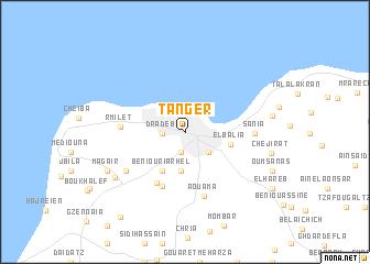 Tanger Morocco map nonanet