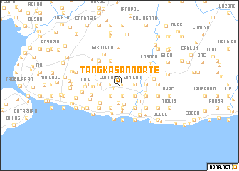 map of Tangkasan Norte