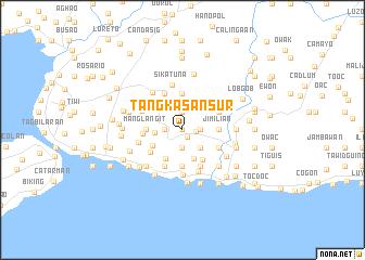 map of Tangkasan Sur