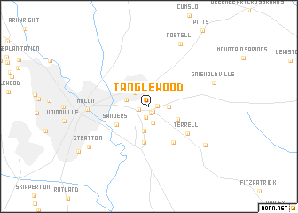 map of Tanglewood