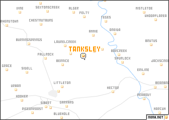 map of Tanksley