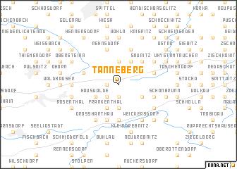map of Tanneberg