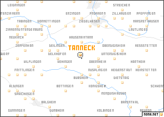 map of Tanneck