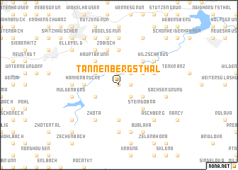 map of Tannenbergsthal