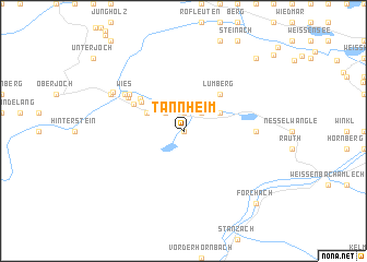 map of Tannheim