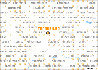 map of Tannweiler