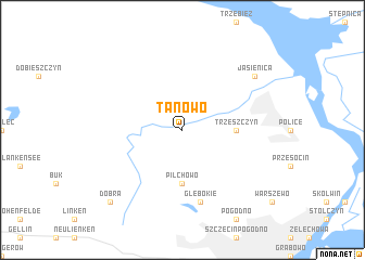 map of Tanowo