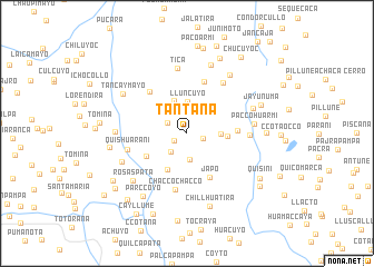 map of Tantaña