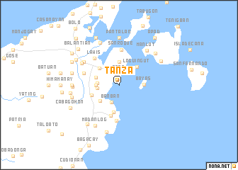 map of Tanza