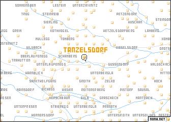 map of Tanzelsdorf