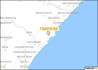 Taormina Italy Map Nona Net