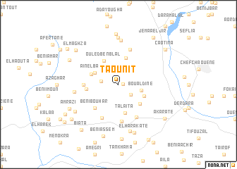 map of Taounit