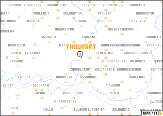 map of Taourart