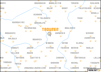 map of Taourer