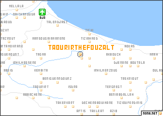 map of Taourirt Hefouzalt