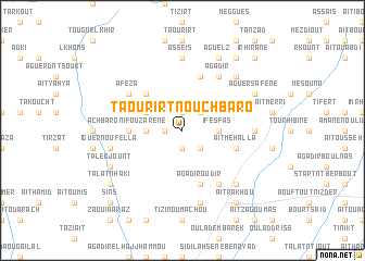 map of Taourirt n'Ouchbaro