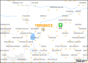 map of Tapkowice